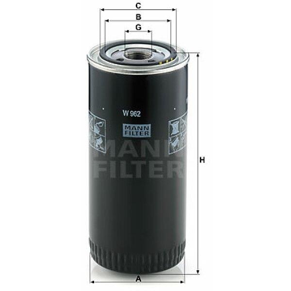 Ölfilter - W 962 MANN-FILTER