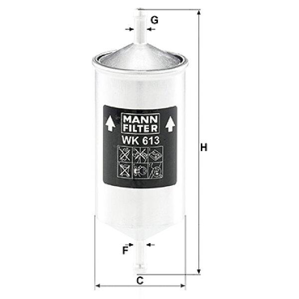kraftstofffilter wk 613 mann filter g nstig online kaufen. Black Bedroom Furniture Sets. Home Design Ideas