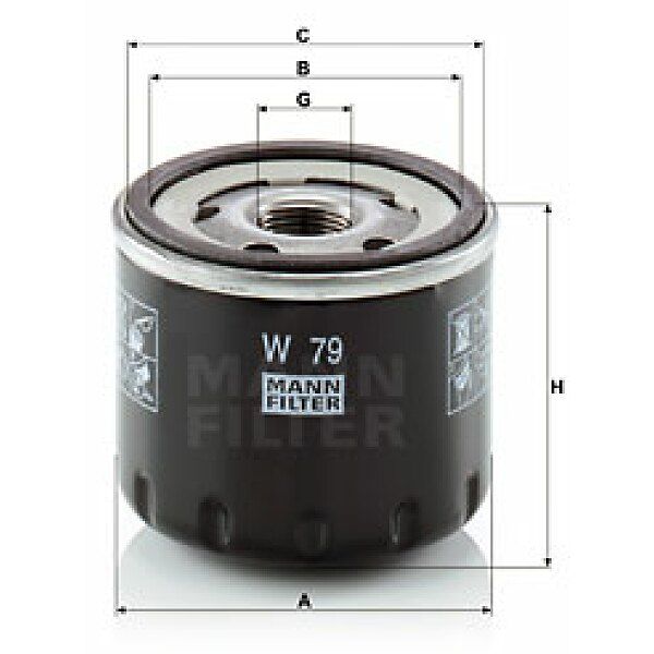 lfilter w 79 mann filter jetzt g nstig online kaufen. Black Bedroom Furniture Sets. Home Design Ideas