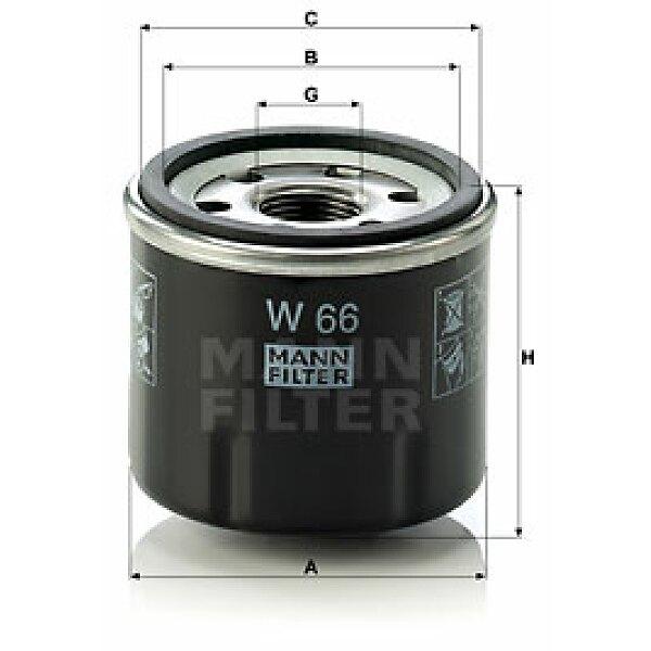 lfilter w 66 mann filter jetzt g nstig online kaufen. Black Bedroom Furniture Sets. Home Design Ideas