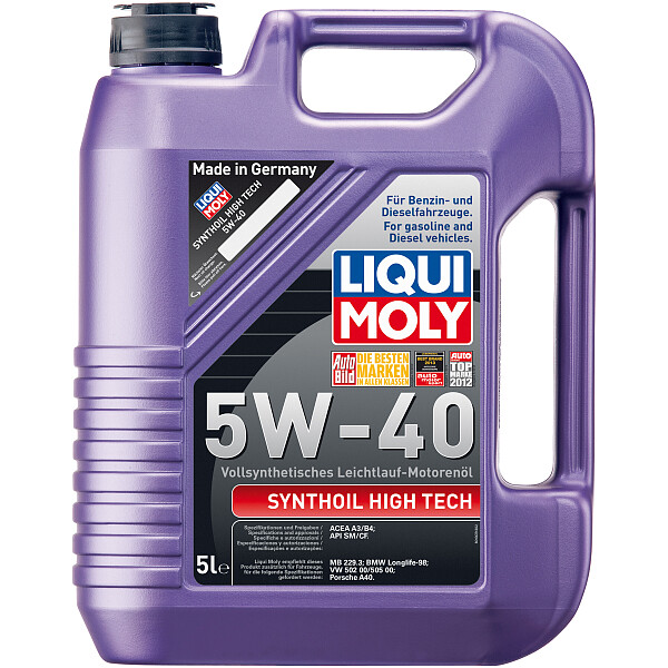 liqui moly 1307 synthoil high tech 5w 40 motor l vollsynthetisch 5l. Black Bedroom Furniture Sets. Home Design Ideas