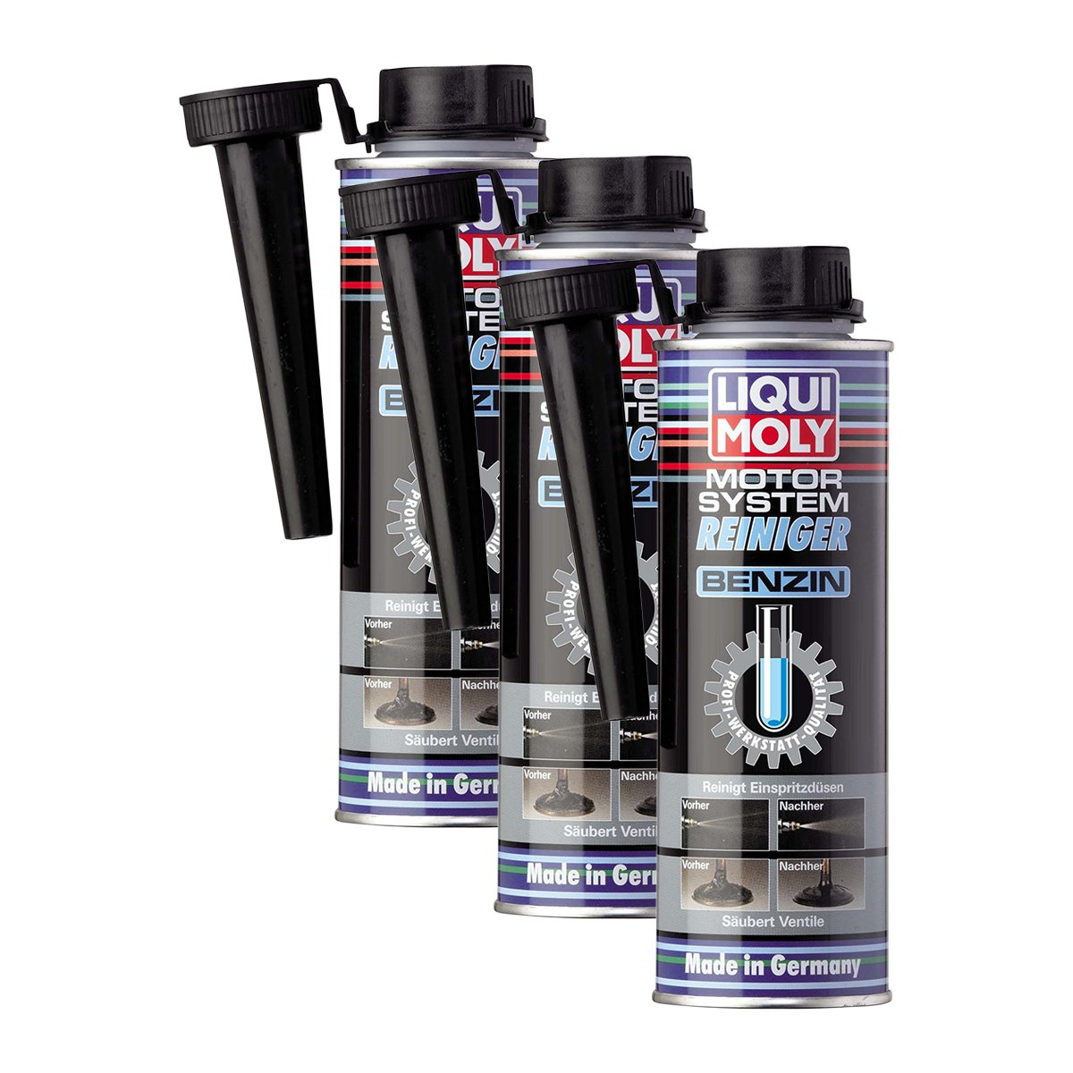 3x liqui moly 5129 motor system reiniger benzin additiv 300ml. Black Bedroom Furniture Sets. Home Design Ideas