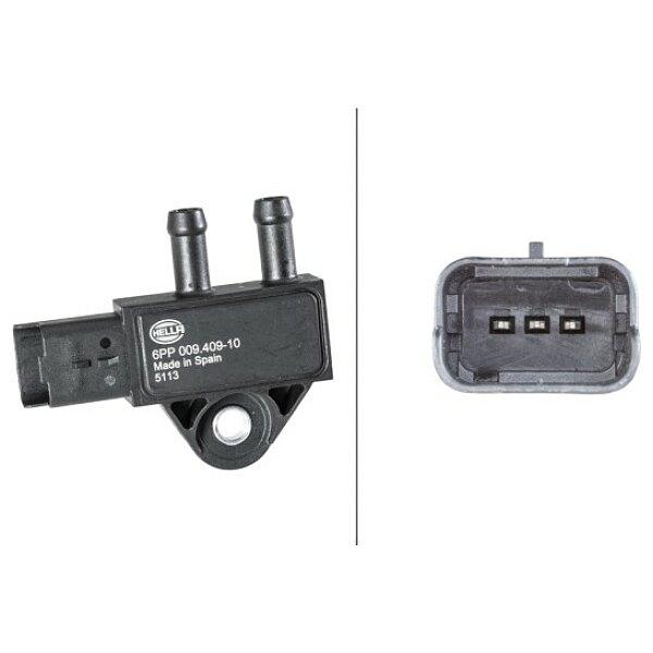Sensor, Abgasdruck - 6PP 009 409-101 HELLA