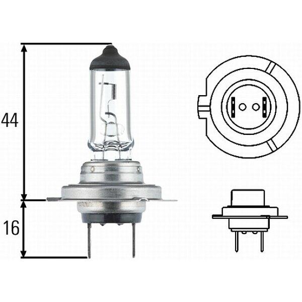 Glühlampe, Fernscheinwerfer - 8GH 007 157-201 HELLA