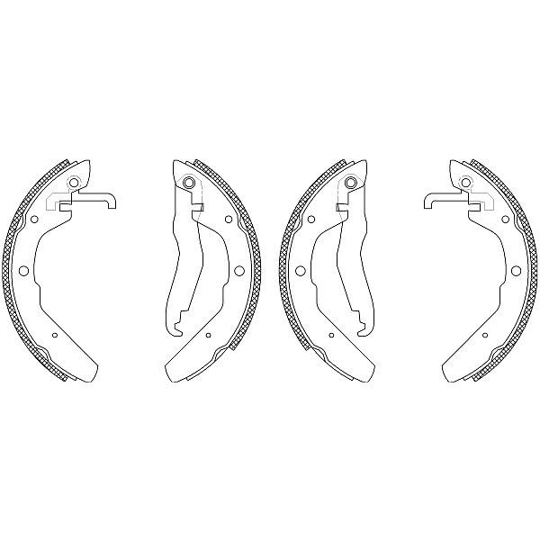 Bremsbackensatz Shoe Kit - 8DB 355 003-501 HELLA